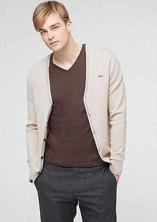 Doubleface gebreid vest