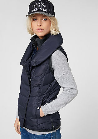 Down body warmer in a layered look from s.Oliver