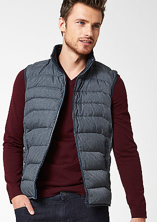 Down body warmer with a matte, topstitched finish from s.Oliver