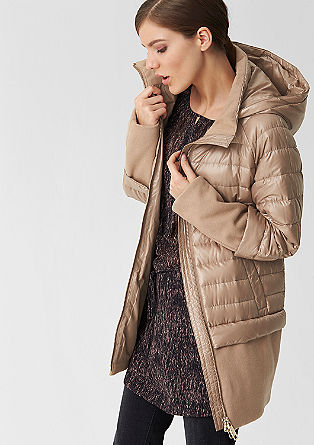 Down coat with wool details from s.Oliver