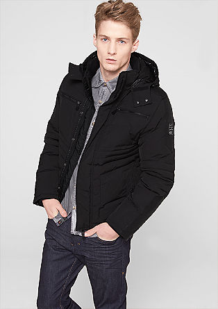 Down jacket in a biker look from s.Oliver