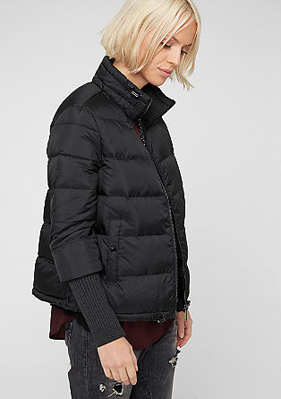 Down jacket with ribbed cuffs from s.Oliver