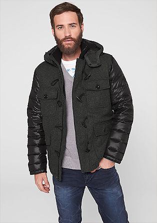 Down jacket with wool fleece from s.Oliver