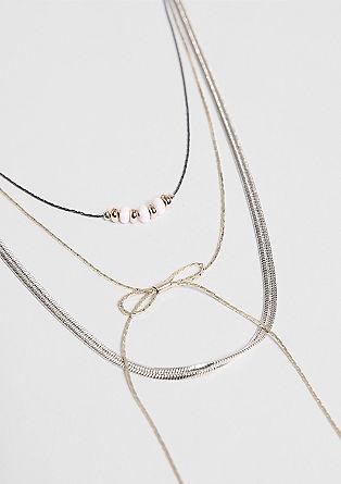Dreisträngige Halskette