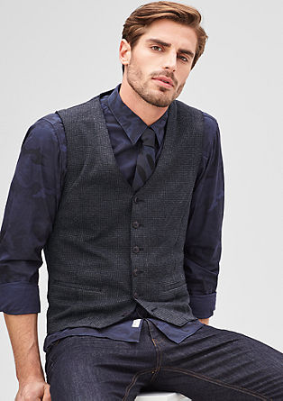 Dress waistcoat in a houndstooth design from s.Oliver
