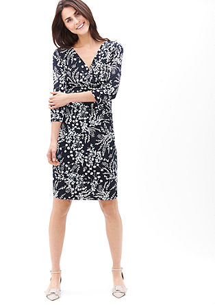 Dress with a cache coeur neckline from s.Oliver