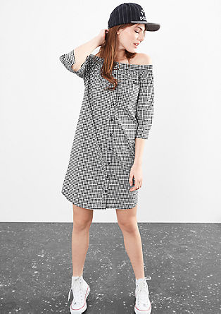 Dress with a check pattern from s.Oliver