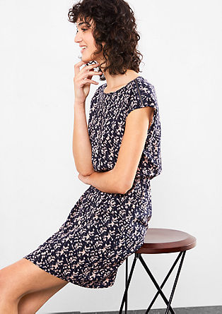 Dress with an all-over pattern from s.Oliver