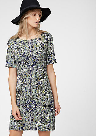 Dress with an all-over print from s.Oliver