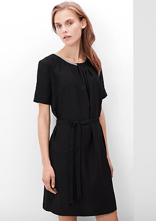 Dress with an asymmetric neckline from s.Oliver