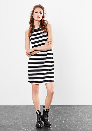 Dress with block stripes from s.Oliver