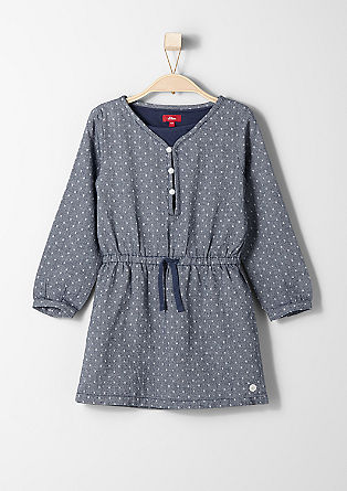 Dress with polka dot jacquard from s.Oliver