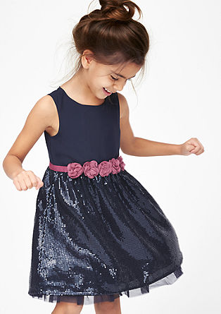 Dress with sequin skirt from s.Oliver