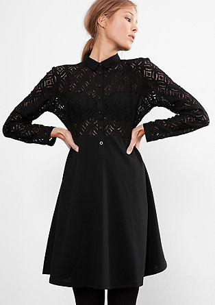 Dress with sheer lace from s.Oliver