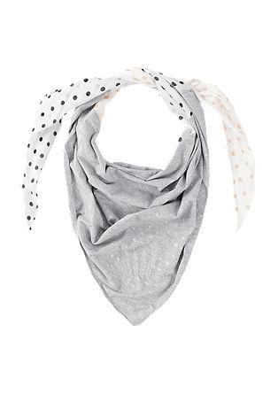 Driehoekig sjaaltje met motiefprint