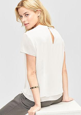 Dubbellaagse chiffon blouse