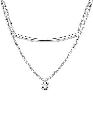 Dvodelna ogrlica z obeskom s cirkoni