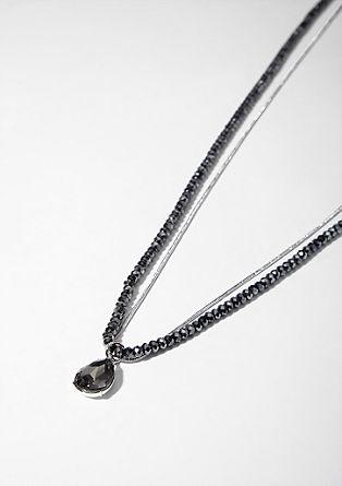 Dvodelna ogrlica z obeskom v obliki kapljice