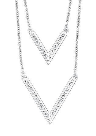 Dvodelna ogrlica z V-obeskom