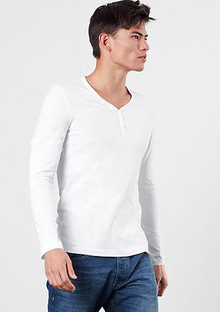 Dvodelni komplet majic dolg rokav v slogu Henley