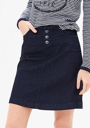 Džínová sukně z tmavého denimu