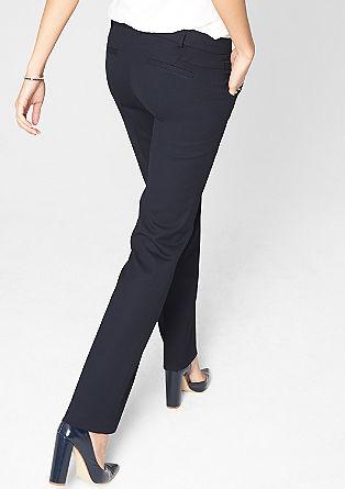 Easy: business pantalon met een geweven structuur