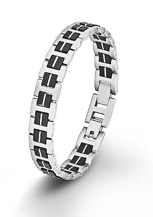 Edelstahl-Armband mit Kautschuk