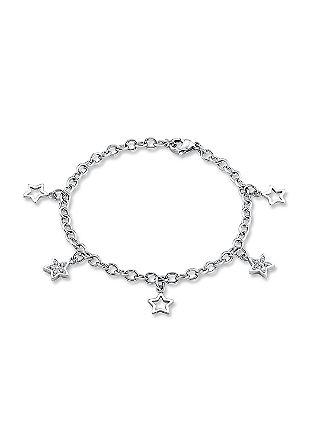 Edelstahl-Armkette mit Sternchen
