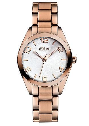 Edelstalen horloge, rose goud.