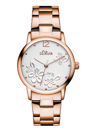 Edelstalen horloge met IP rose plating