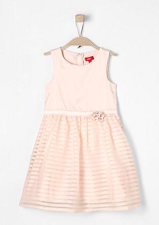 Edles Kleid mit Streifen-Details