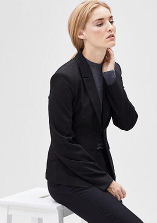 Elastische blazer met elegante revers
