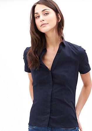 Elastische blouse met wijde hals