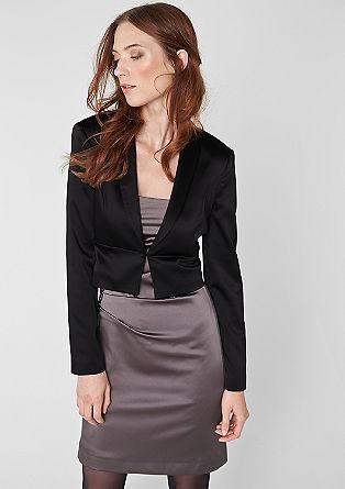 Elegant, satin short blazer from s.Oliver