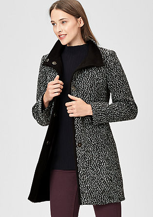 Elegant bouclé coat from s.Oliver