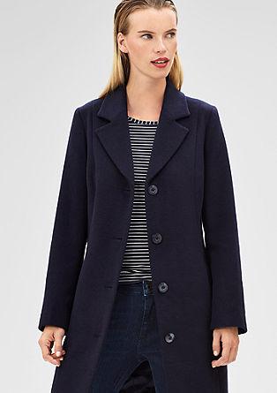 Elegant coat in blended wool from s.Oliver