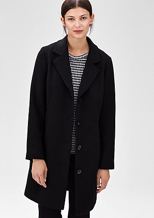 Elegant coat in blended wool from s.Oliver