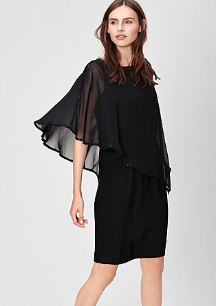 Elegant dress with a chiffon cape from s.Oliver