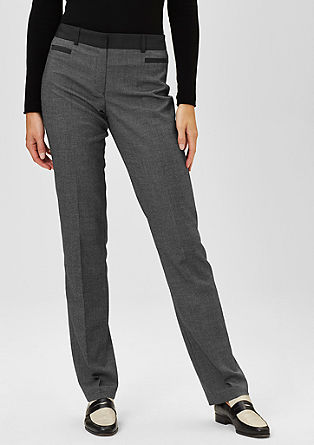 Elegant end-on-end trousers from s.Oliver