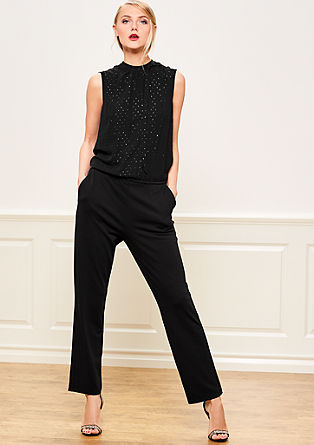 Elegant fabric mix jumpsuit from s.Oliver