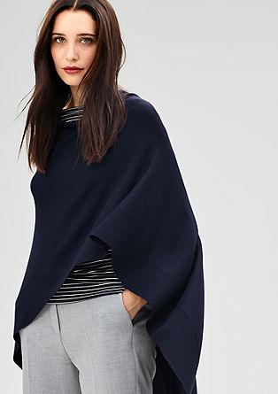 Elegant fine knit poncho from s.Oliver