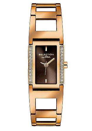Elegant horloge met strassteentjes