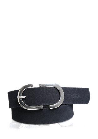 Elegant leather belt from s.Oliver