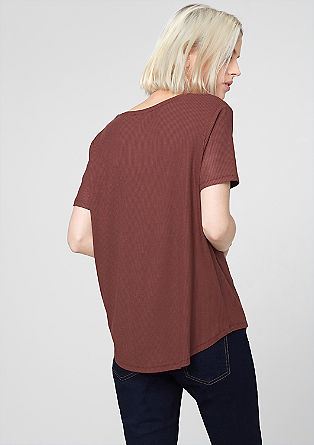 Elegant ribbed top from s.Oliver