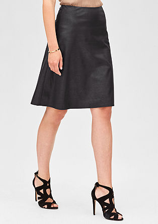 Elegant skirt in a leather look from s.Oliver