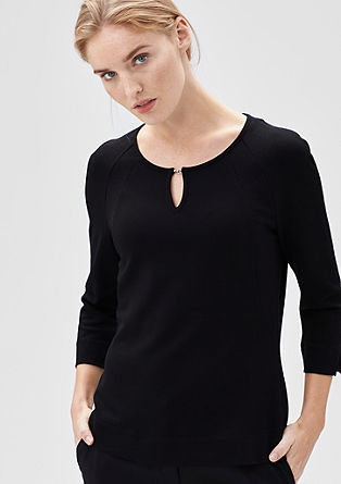 Elegant stretch T-shirt from s.Oliver