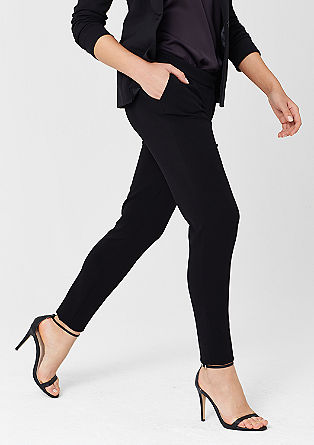 Elegant trousers in a neoprene look from s.Oliver