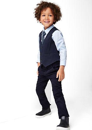 Elegant twill waistcoat from s.Oliver
