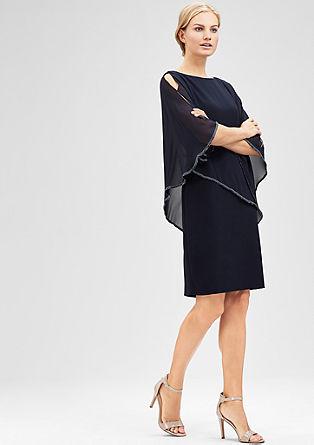 Elegante jurk met chiffon cape