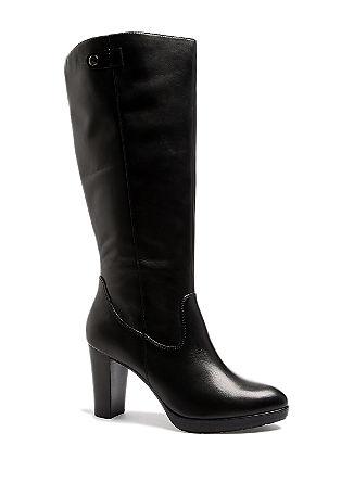 Elegante Stiefel aus Leder